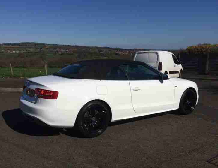 audi 2011 a5 s line 2 0 tdi cabriolet convertible ibis white car for sale. Black Bedroom Furniture Sets. Home Design Ideas
