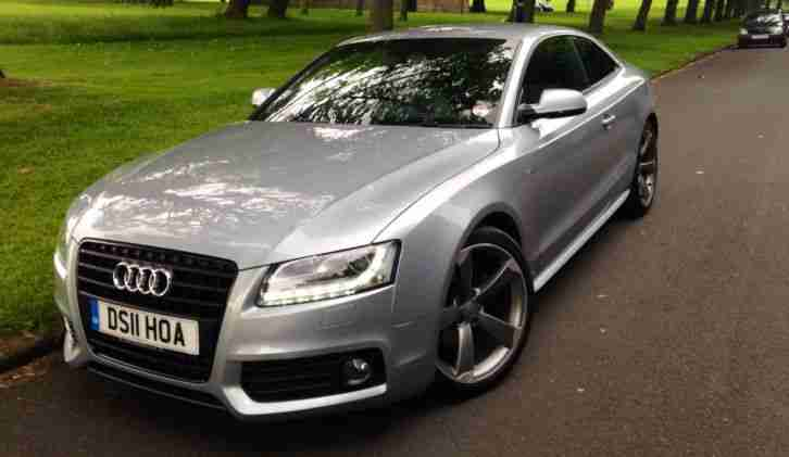 Audi 2011 A5 S Line Black Edition Coupe Silver Car For Sale