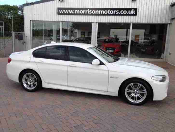 bmw 2011 5 series 520d m sport auto diesel white automatic car for sale. Black Bedroom Furniture Sets. Home Design Ideas