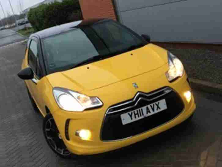 2011 DS3 STYLE E HDI YELLOW DIESEL