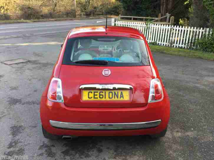 2011 FIAT 500 LOUNGE RED