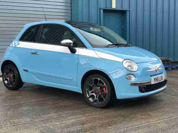 2011 Fiat 500 Sport 1.4 Petrol 100bhp with Panaramic Sliding Roof and Air Con