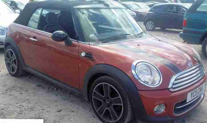 2011 MINI BMW COOPER D DIESEL CONVERTIBLE, LOUNGE LEATHER, HEATED SEATS