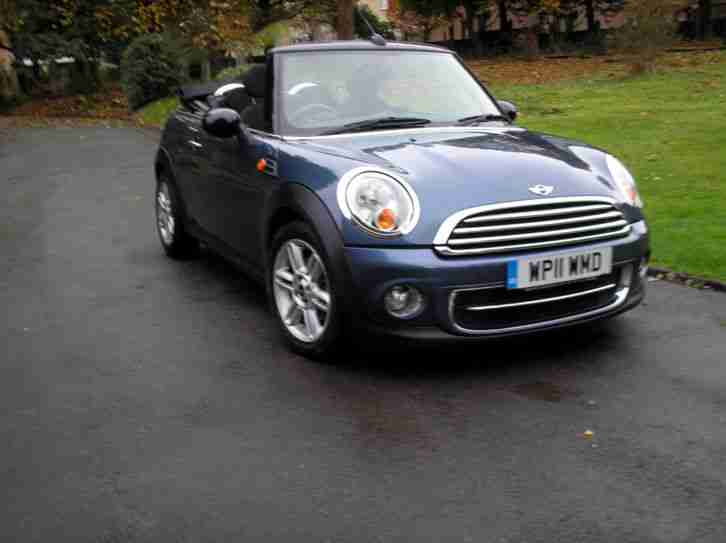 mini 2011 cooper d convertible chili pack blue car for sale. Black Bedroom Furniture Sets. Home Design Ideas