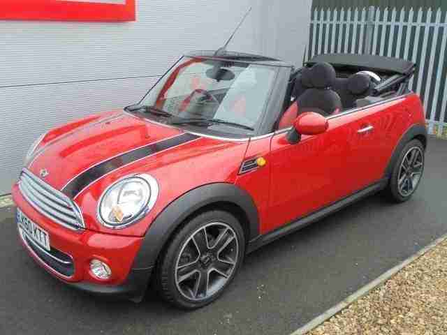 mini 2011 convertible cooper 1 6 120 bhp chilli pack leather car for sale. Black Bedroom Furniture Sets. Home Design Ideas