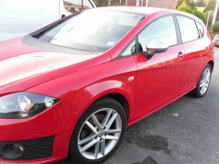 seat 2011 leon fr 170 cr tdi 5 door diesel hatch red 75k fsh car for sale. Black Bedroom Furniture Sets. Home Design Ideas