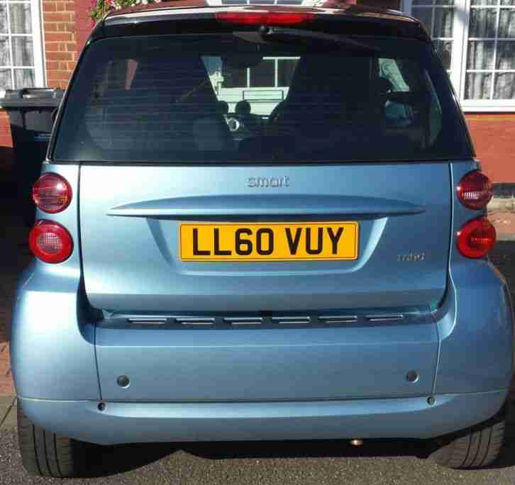 2011 SMART FORTWO PASSION MHD AUTO SILVER BLUE