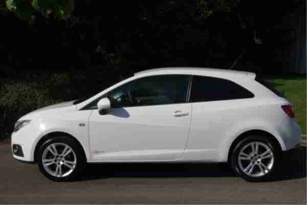2011 Seat Ibiza Sc 1 4 16v 85ps Se Copa 3 Door White Car