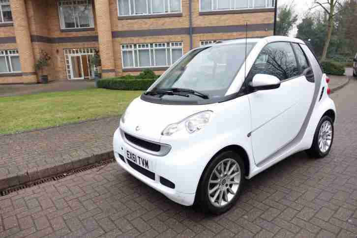 2011 Smart fortwo 1.0 auto Convertible Right Hand drive RHD UK Registered