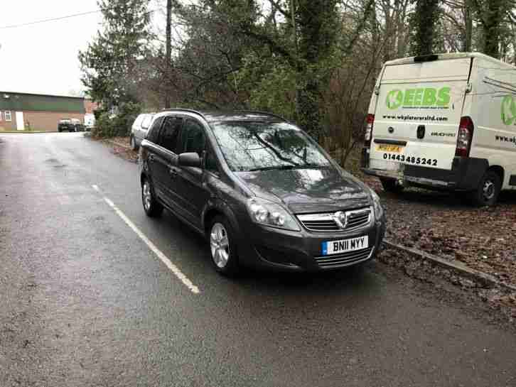 2011 VAUXHALL ZAFIRA EXCLUSIV AUTOMATIC GREY 83K MILES 7 SEATER