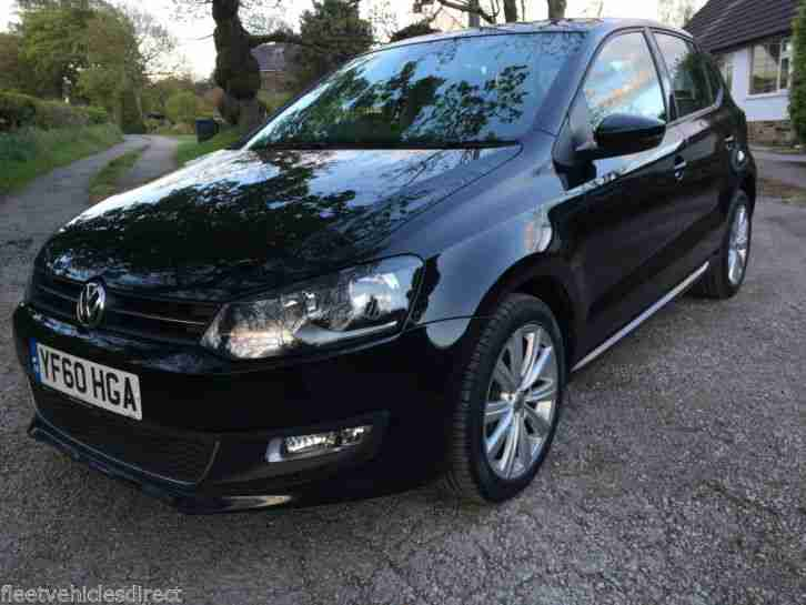 2011 VOLKSWAGEN POLO SEL 1.6 TDI 90 IN BLACK ONE OWNER FULL HISTORY 82,000 MILES