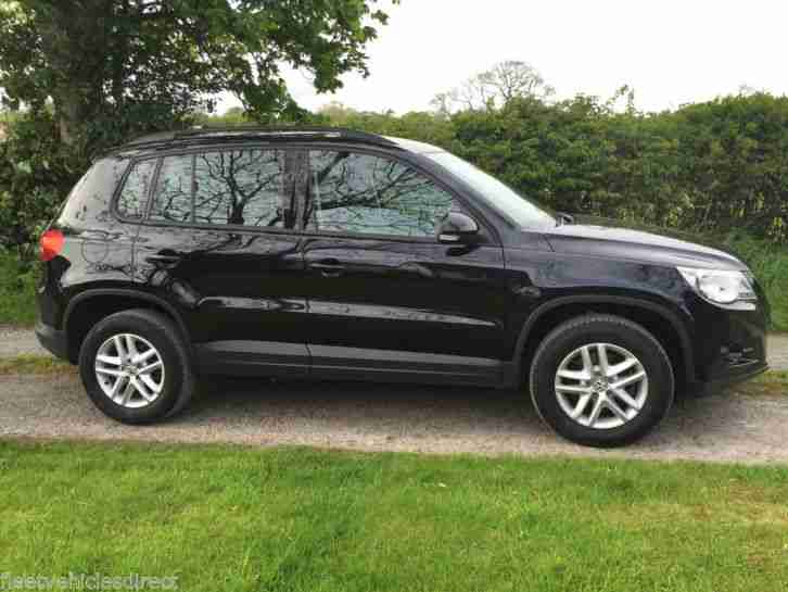 2011 VOLKSWAGEN TIGUAN S 2.0 TDI BLUEMOTION TECH BLACK ONE OWNER FULL VW HISTORY