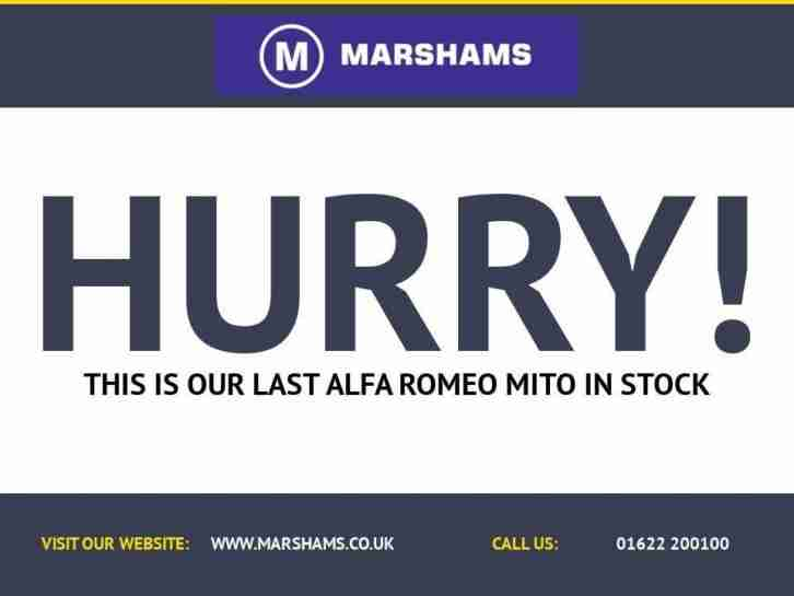2012 12 ALFA ROMEO MITO 1.4 TB MULTIAIR DISTINCTIVE 3D 135 BHP RED 35000 MILES