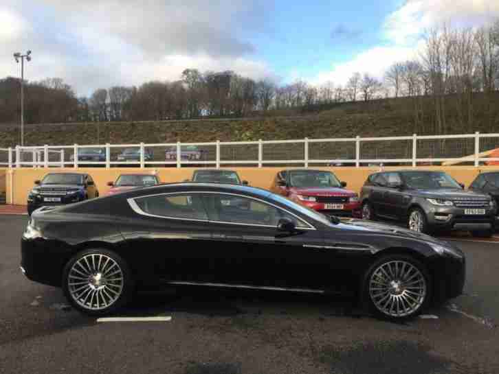 2012 12 ASTON MARTIN RAPIDE 5.9 V12 AUTO SALOON IN ONYX BLACK WITH CREAM