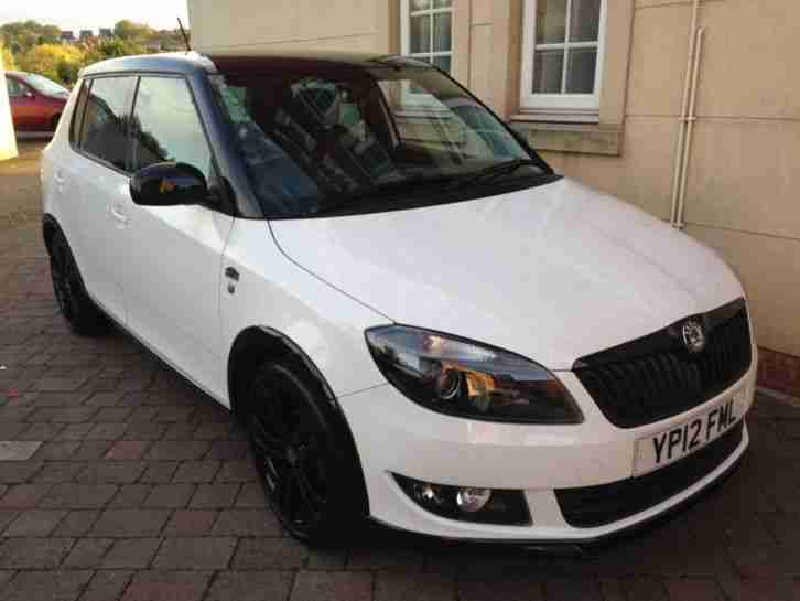 skoda 2012 12 fabia monte carlo 1 2 tsi white full history 1 owner. Black Bedroom Furniture Sets. Home Design Ideas