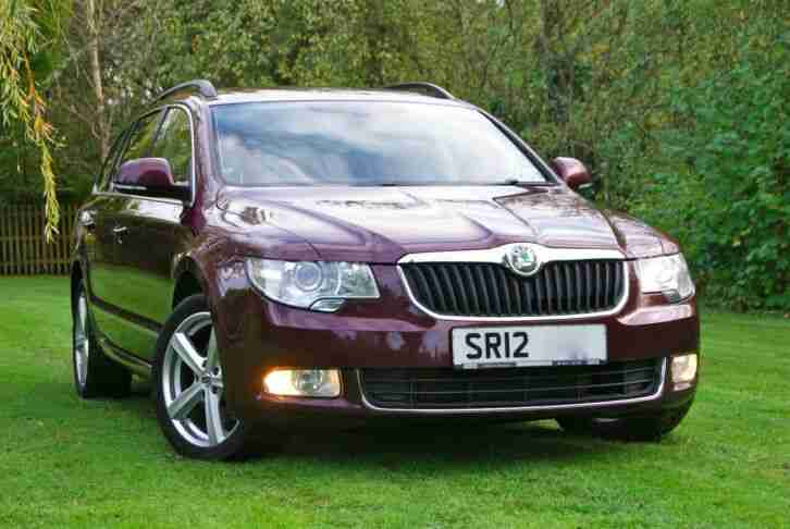 2012 12 SKODA SUPERB 2.0TDi 140 HP ELEGANCE 6 SPEED MANUAL ESTATE HEATED SEATS