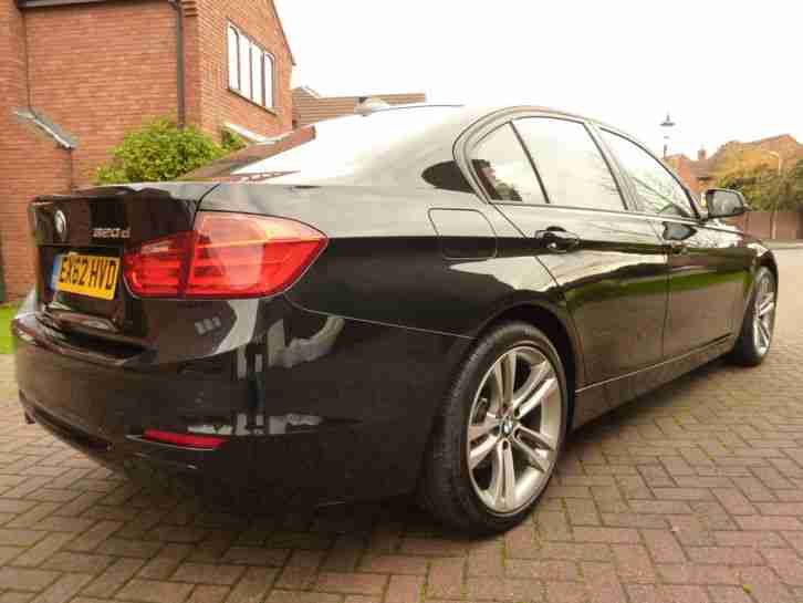 2012 62 REG BMW 320D Sport Saloon Black & Black Leather Low Mileage 3 series F30