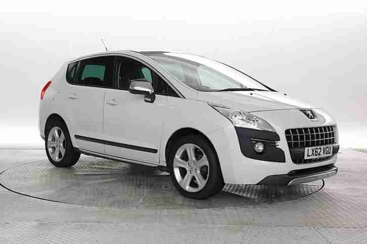 peugeot 2012 62 reg 3008 1 6 e hdi allure white mpv diesel automatic. Black Bedroom Furniture Sets. Home Design Ideas