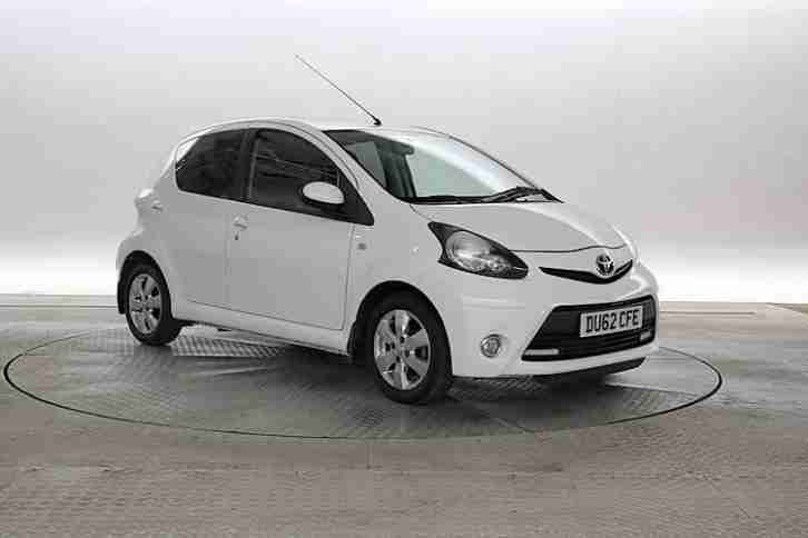 2012 (62 Reg) Toyota Aygo 1.0 Fire MMT White 5 STANDARD PETROL AUTOMATIC