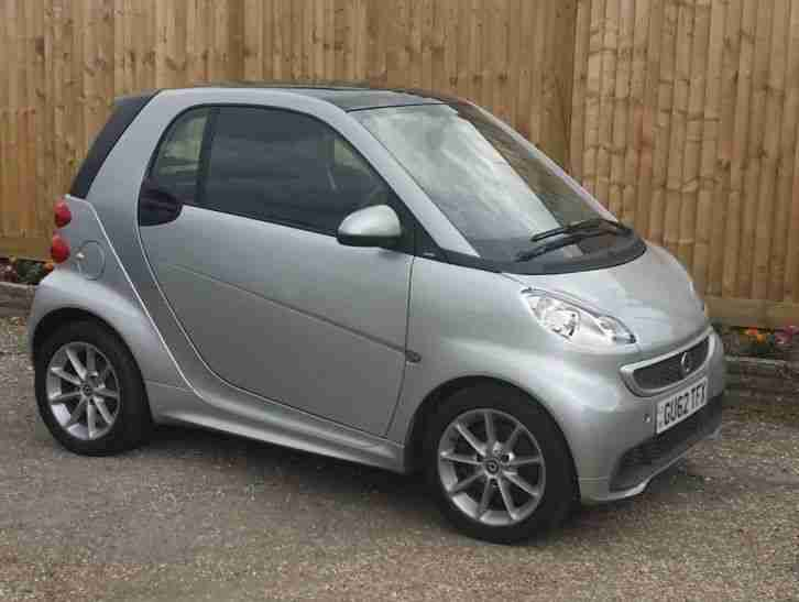 2012 (62) SMART FORTWO PASSION ONE OWNER 17K ONLY SATNAV AIRCON PANORAMIC ROOF