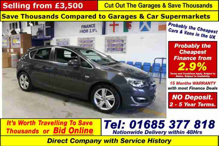 2012 62 VAUXHALL ASTRA SRI 1.7CDTI 5 DOOR HATCHBACK (GUIDE PRICE)