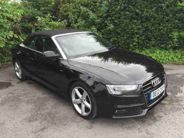 Audi 2012 a5 convertible 2 0 tdi manual black 57k car for sale - 2012 audi a5 coupe for sale ...