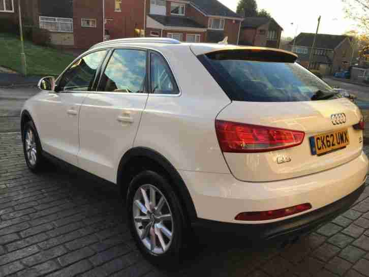 audi 2012 q3 2 0 tdi se manual white car for sale. Black Bedroom Furniture Sets. Home Design Ideas