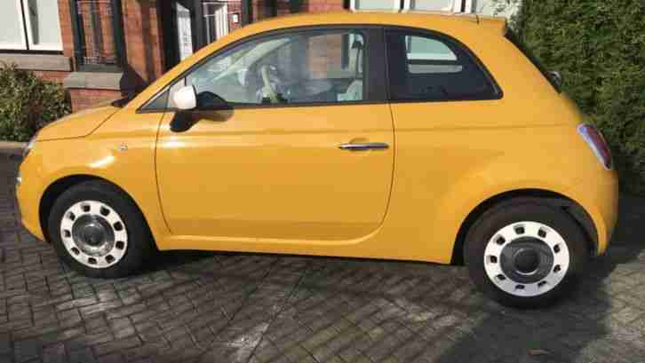 2012 FIAT 500 COLOUR THERAPY YELLOW