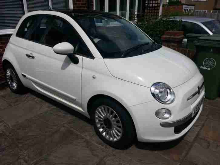 Fiat 2012 500 Lounge White Car For Sale