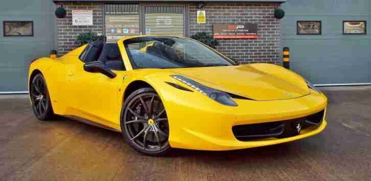 2012 Ferrari 458 4.5 V8 Spider Convertible Huge Spec Rare Example