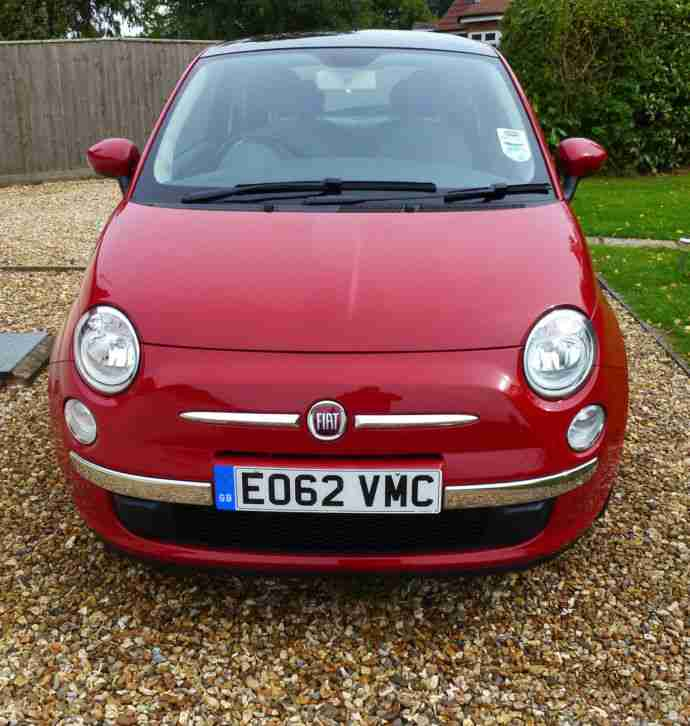 2012 - Fiat 500 1.2 (s/s) LOUNGE Hatchback 3d - Like New!