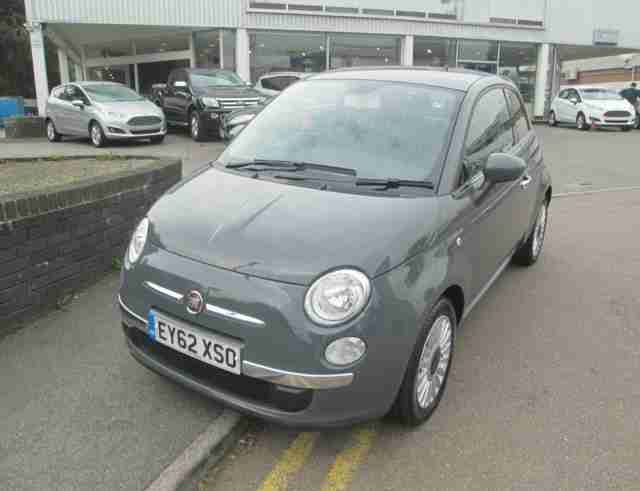2012 Fiat 500 Lounge Petrol Grey Manual