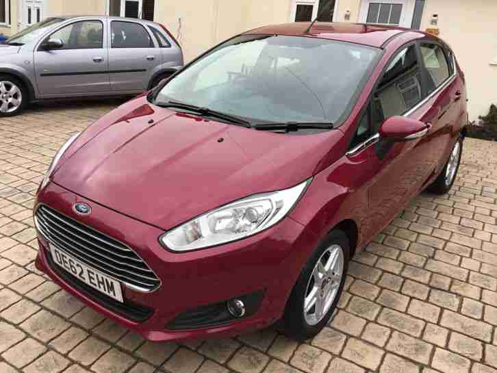 2012 Ford Fiesta 1.0 Zetec ECOBOOST Hot Magenta 5 Door INC 6m WARRANTY