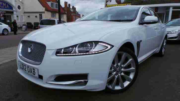 Jaguar 2012 Xf 3 0 S V6 Turbo Diesel Luxury Auto White Sat