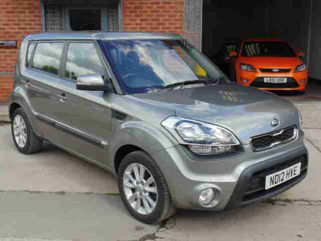 kia 2012 soul 2 crdi silver black cloth 34k fsh car for sale. Black Bedroom Furniture Sets. Home Design Ideas