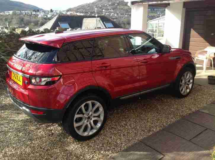 2012 land rover range rover evoque pure s red car for sale. Black Bedroom Furniture Sets. Home Design Ideas