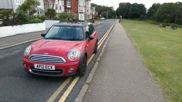 2012 MINI COOPER CLUBMAN RED FSH ONE OWNER