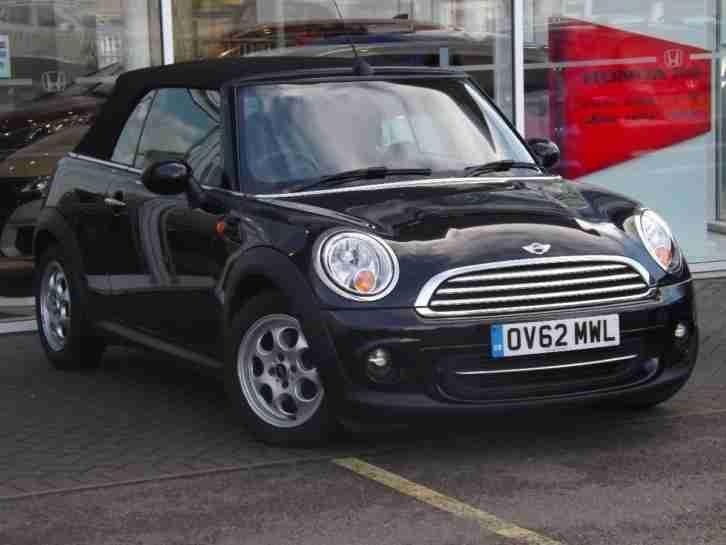 Mini 2012 Convertible Cooper Petrol Black Manual Car For Sale