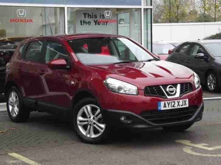 nissan 2012 qashqai acenta dci diesel red manual car for sale. Black Bedroom Furniture Sets. Home Design Ideas