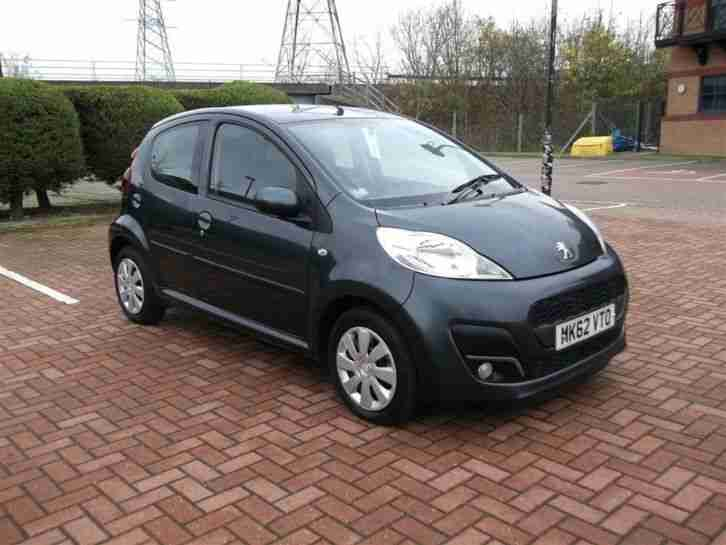 2012 Peugeot 107 1.0 Active 5Dr Petrol Grey Manual