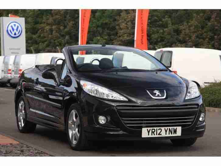 peugeot 2012 207 cc cc 1 6 vti active convertible petrol black manual. Black Bedroom Furniture Sets. Home Design Ideas