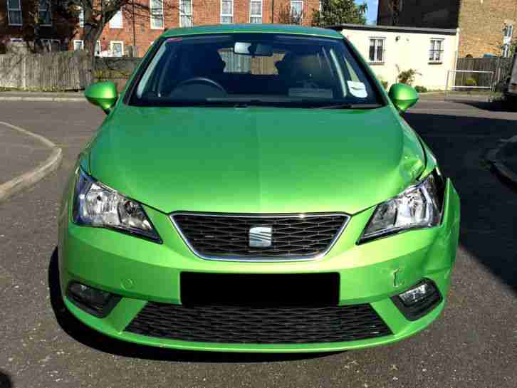 seat 2012 ibiza se in lush green manual damaged salvage bargain. Black Bedroom Furniture Sets. Home Design Ideas