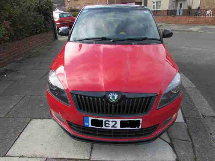 2012 SKODA FABIA MONTE CARLO 1.2 TSI TURBO RED WITH MET BLACK ROOF 10,000 MILES