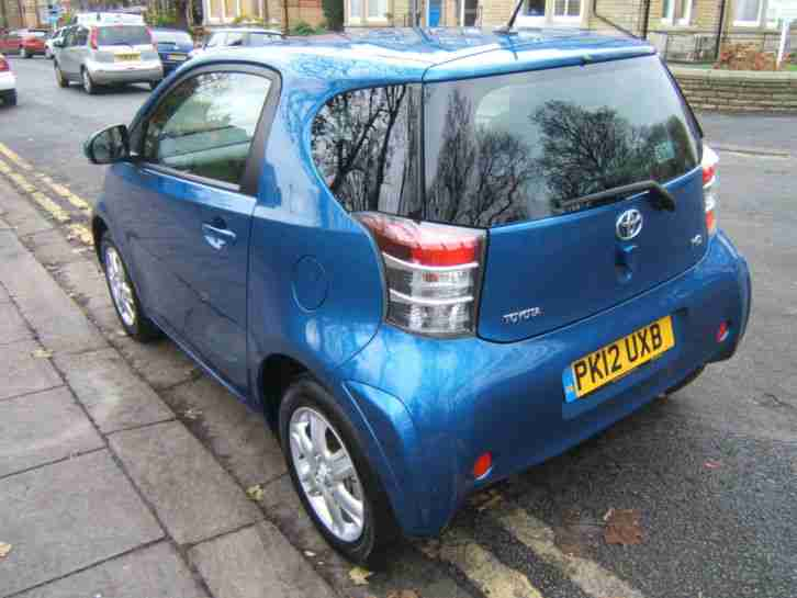 2012 Toyota iQ 1.0 VVT-i AUTOMATIC 470 MILES ONLY ALLOYS BLUE CD LOW TAX AIR/CON
