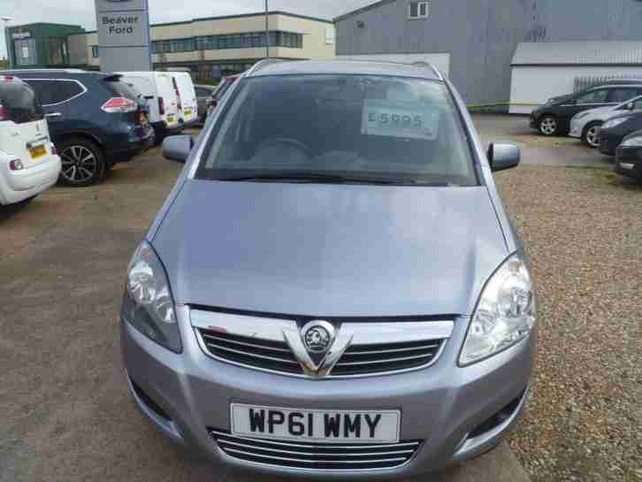 2012 Vauxhall Zafira EXCITE Petrol silver Manual