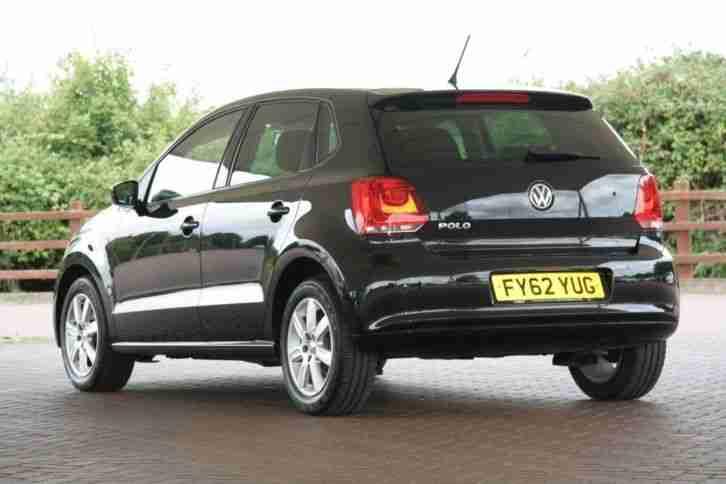 Volkswagen 2012 Polo 1.2 60 Match 5dr Petrol Black Manual ...