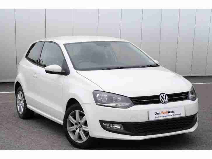 volkswagen 2012 polo match 1 2 60ps 5 speed manual 3 door petrol white. Black Bedroom Furniture Sets. Home Design Ideas