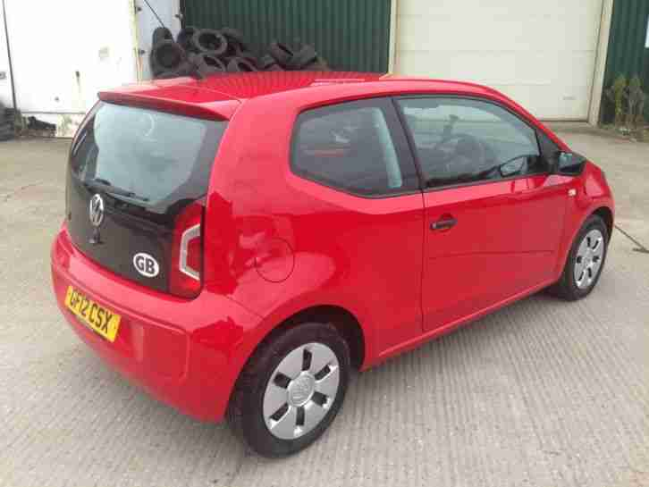 volkswagen 2012 take up vw up red low miles cheap tax car for sale. Black Bedroom Furniture Sets. Home Design Ideas