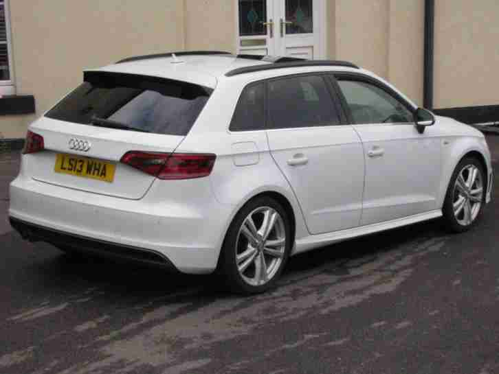 2013 13 AUDI A3 2.0 TDI S LINE 5D 148 BHP SAT NAV PAN ROOF B AN O SOUND FULLY LO