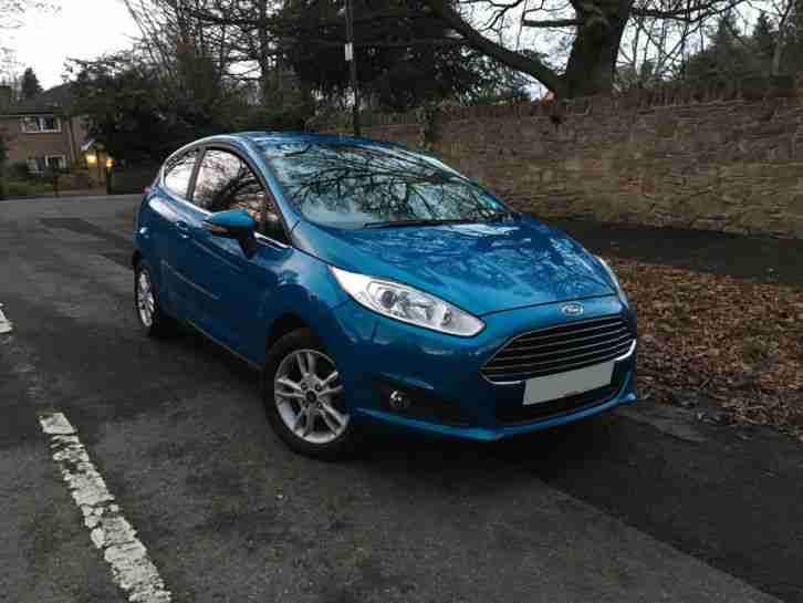 2013 13 Ford Fiesta 1.0 Ecoboost 3 Door Hatchback Blue